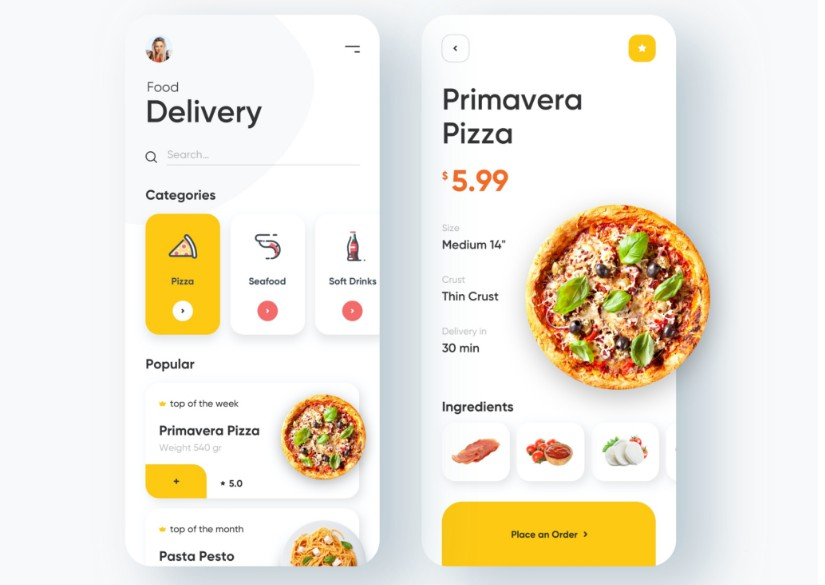 An awesome Flutter food delivery app ui