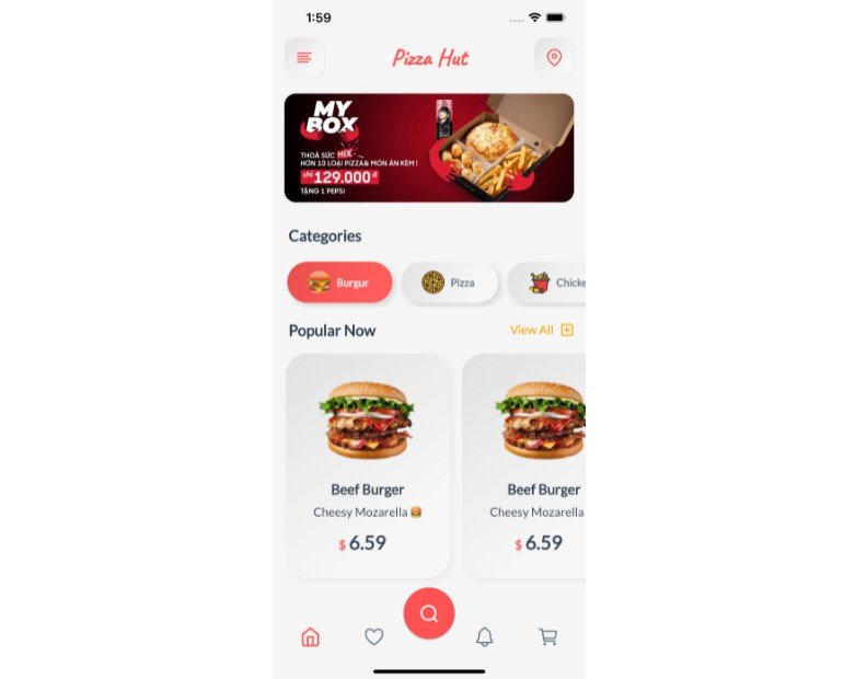 A mobile application using flutter for develop a pizza store
