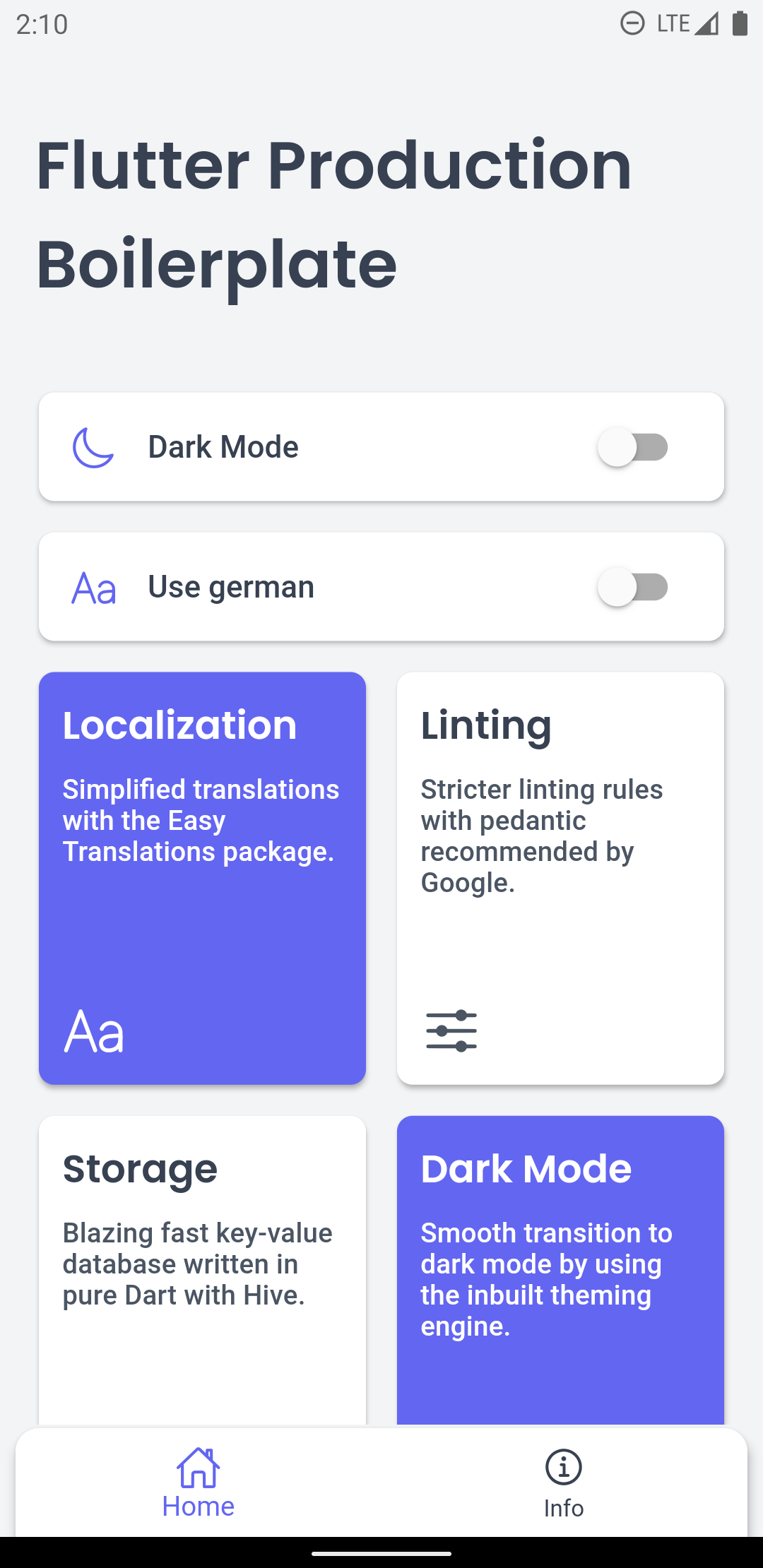 A flutter boilerplate containing bloc, pedantic, hive, easy_translations and more