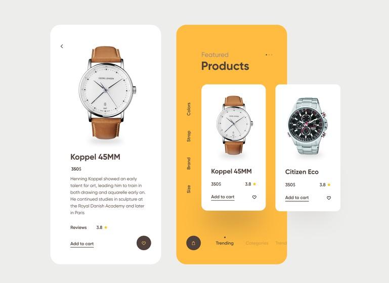 A Watch App Screen UI With Flutter