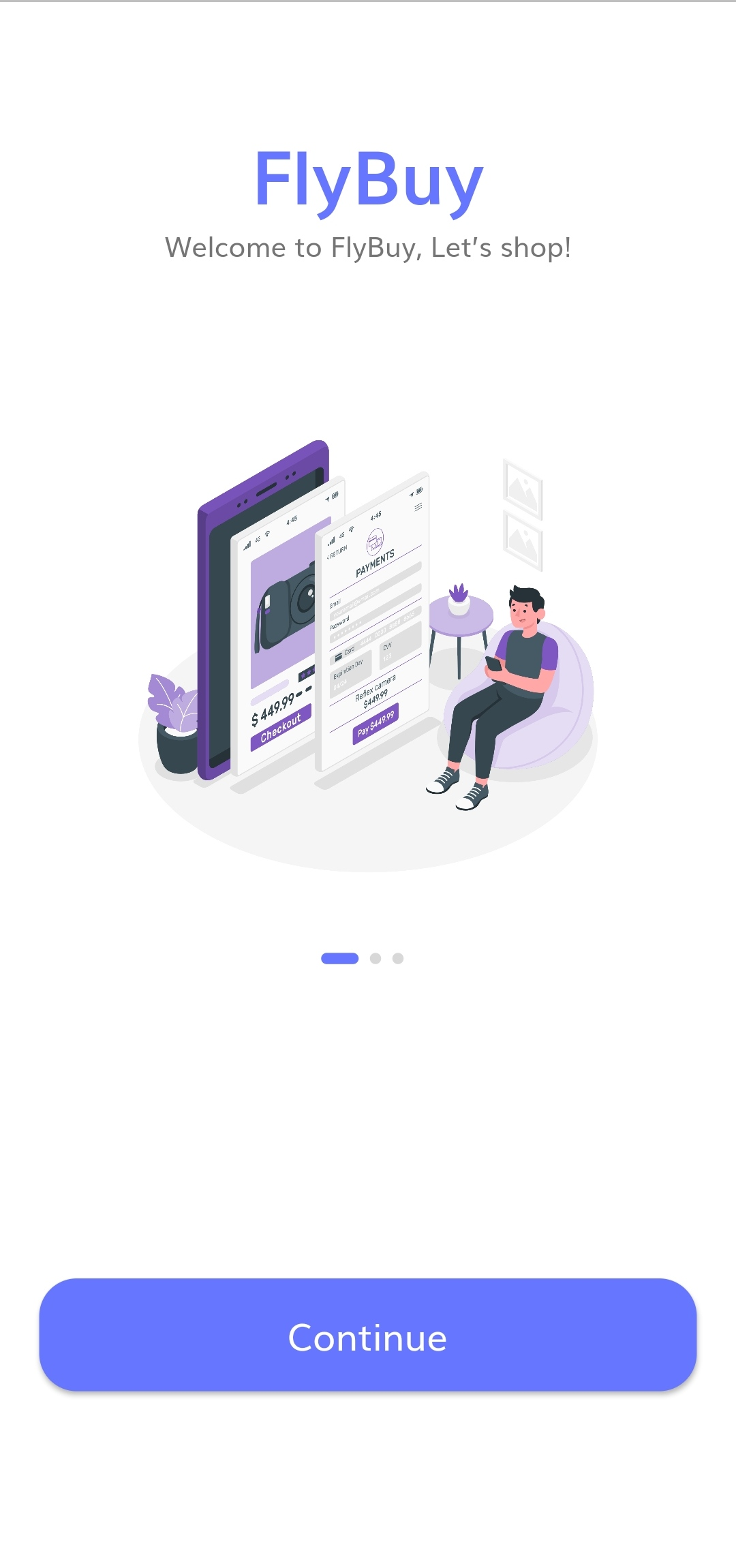 A full E-commerce app with nice UI consists of on-boarding, login, sign-up, home