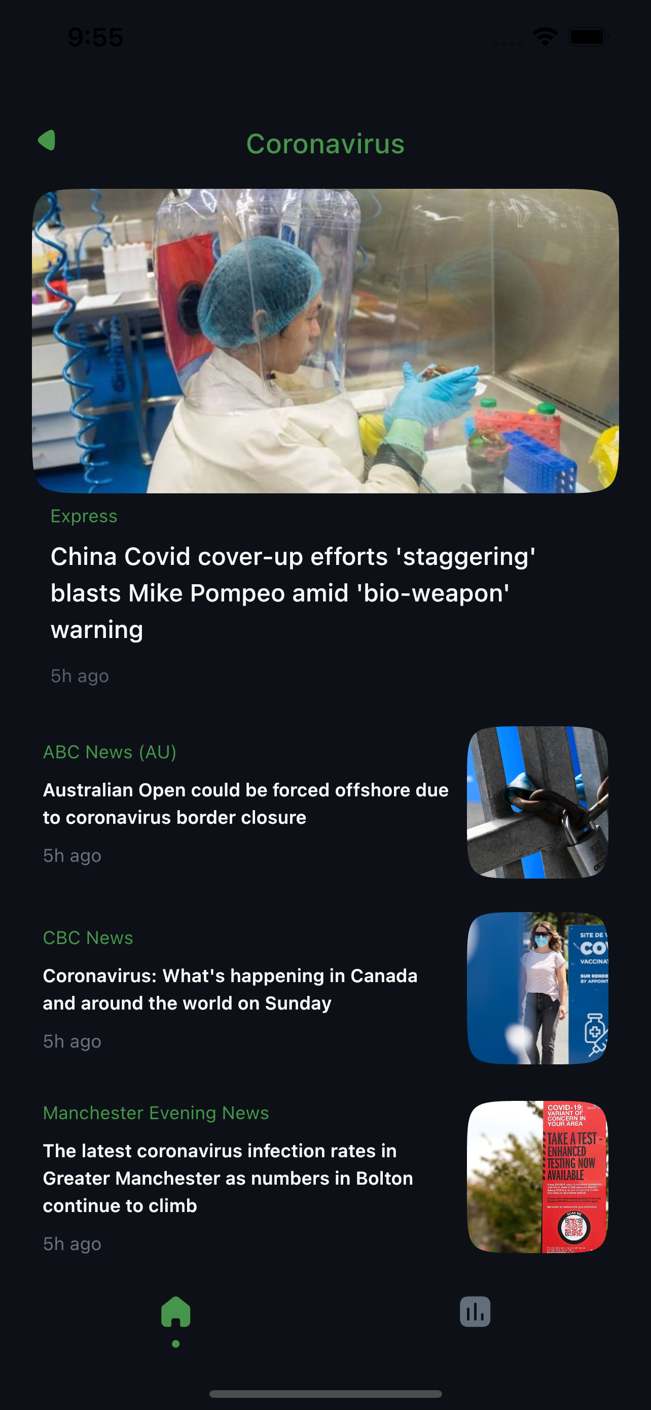 Simple and modern news app that incorporates REST API with Flutter