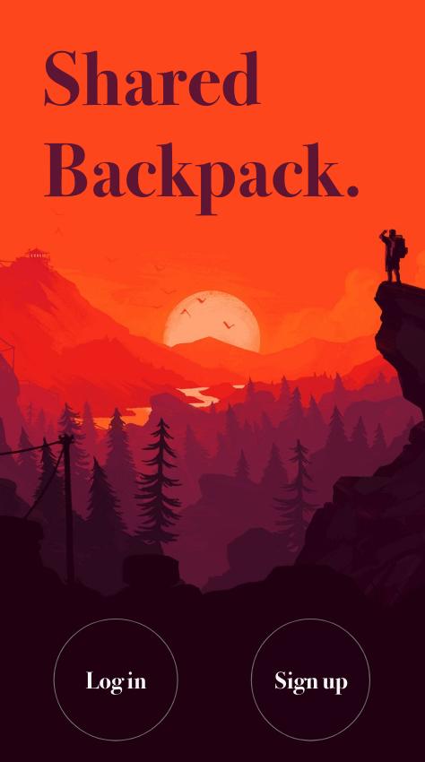 Shared Backpack User App using flutter