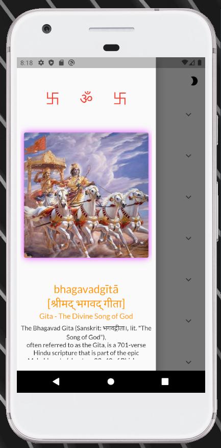 Bhagavad Gita app using flutter & Bhagavad-Gita-API
