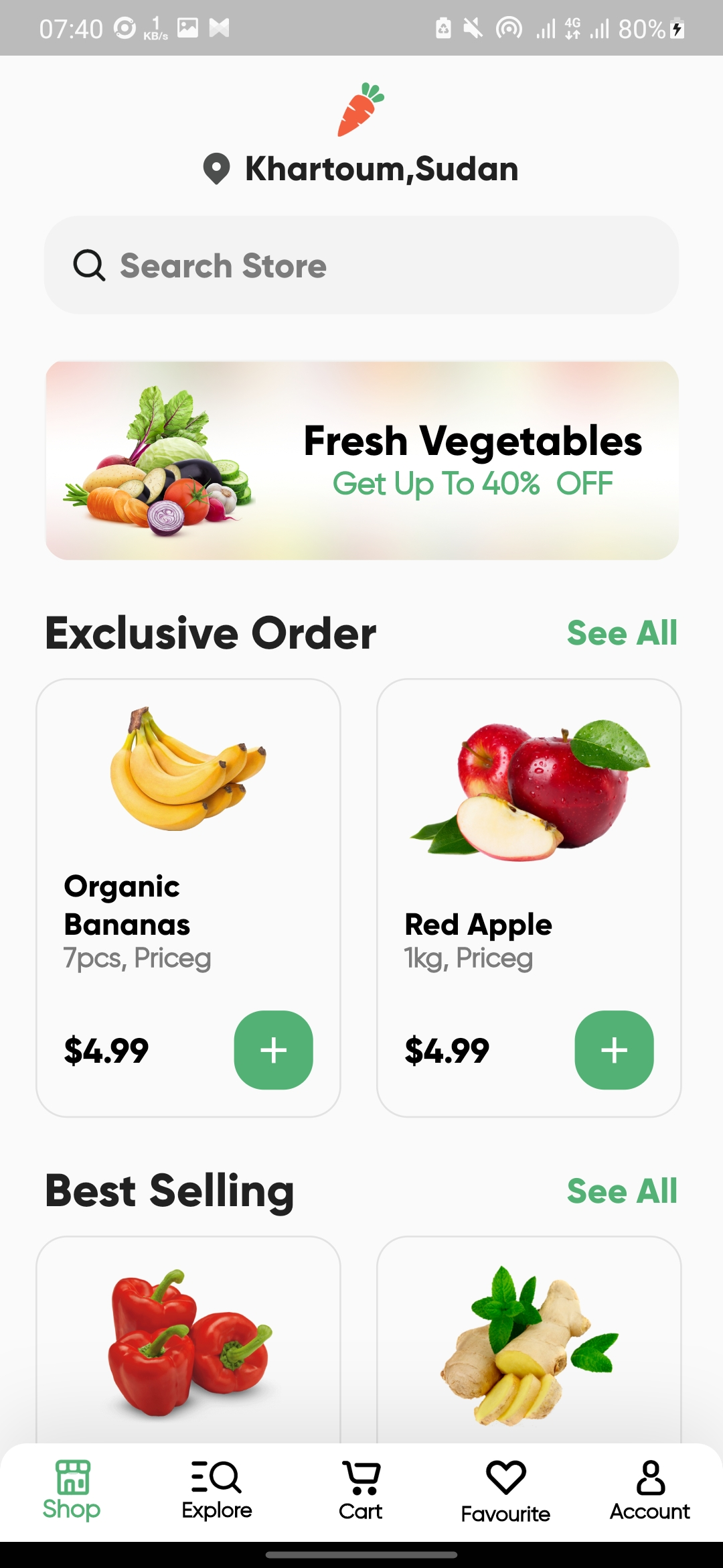 Grocery App UI Build with flutter