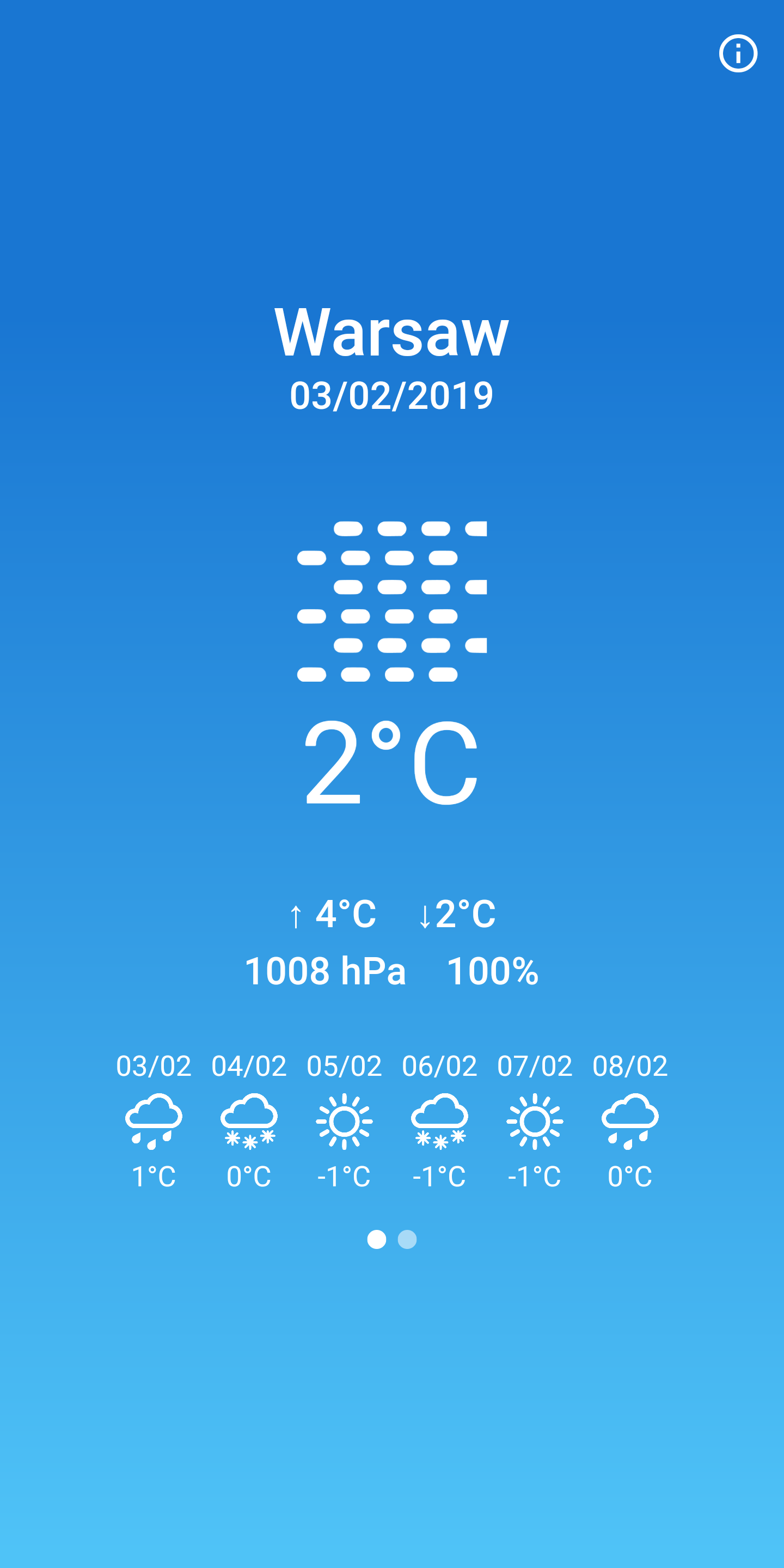 Flutter weather application with beautiful UI and UX