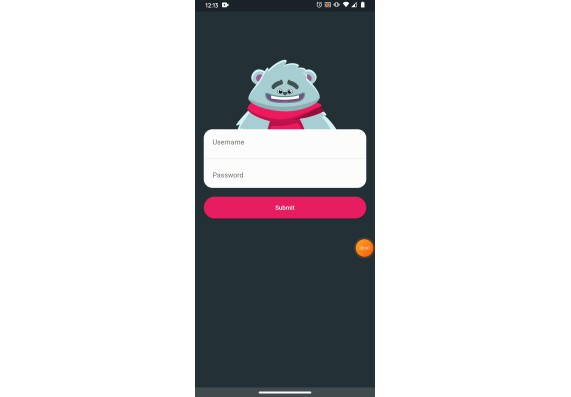 A simple animated login UI with teddy For Flutter