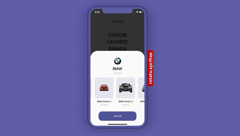 Car Store App Concept build with flutter