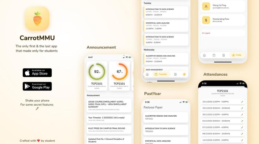 CarrotMMU App build with flutter
