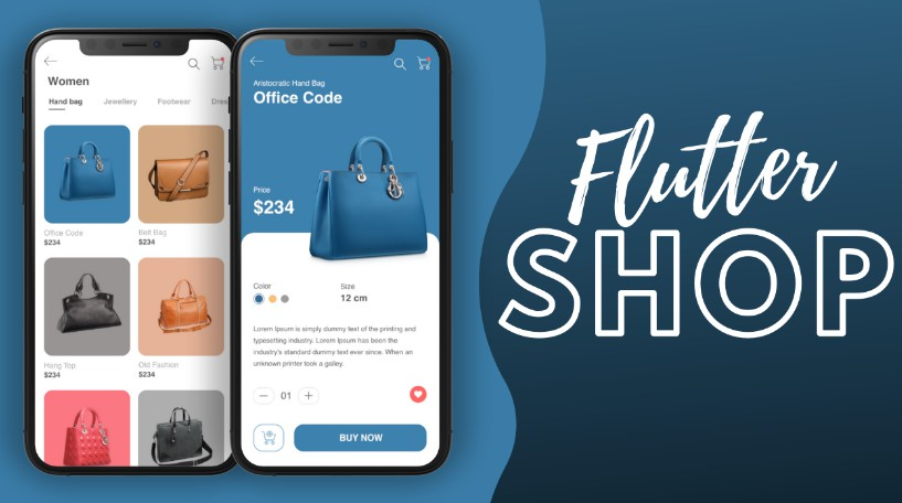 A Nice and clean Online Shop app UI using Flutter