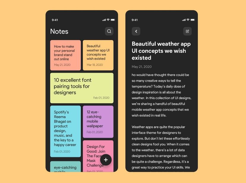 A simple Flutter Note Taking app with local database