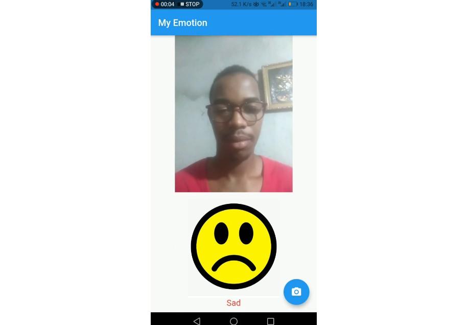 A flutter app face detection and emotion