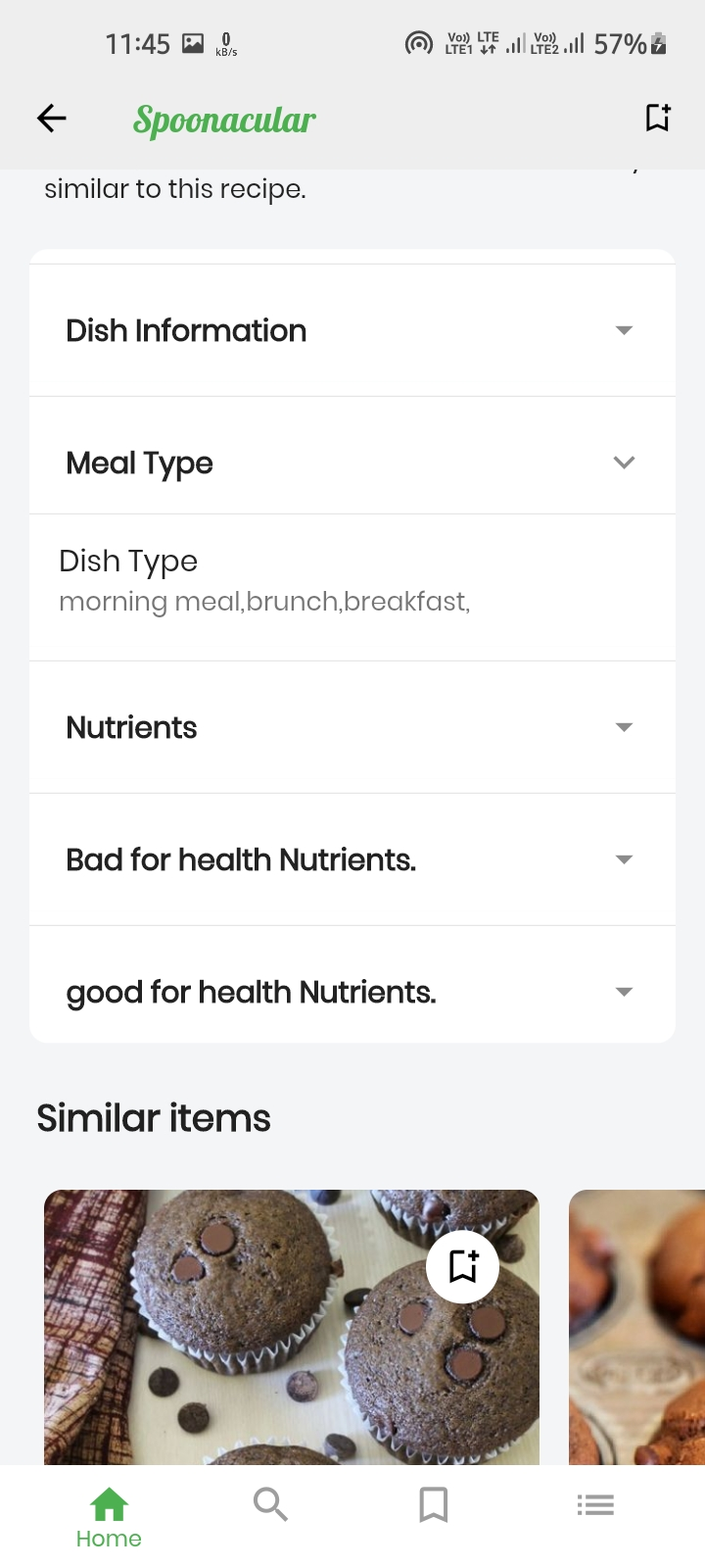 A Flutter Recipe app with spoonacular API