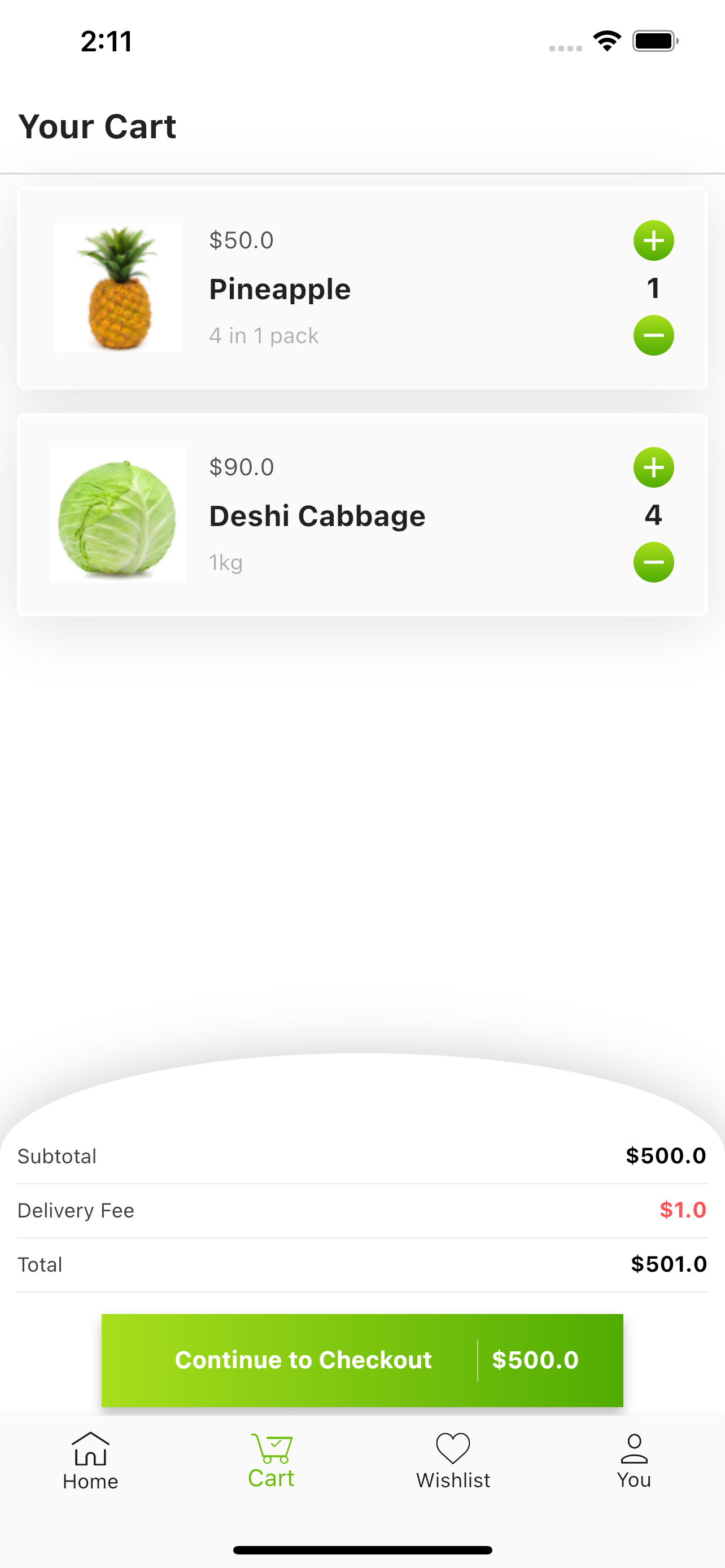 A beautiful Grocery Ecommerce App with flutter