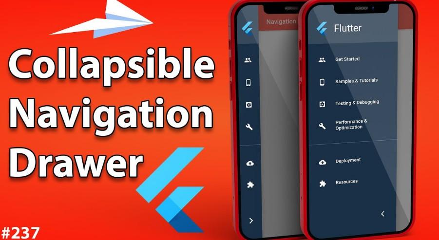 Collapsible Sidebar Menu & Navigation Drawer in Flutter