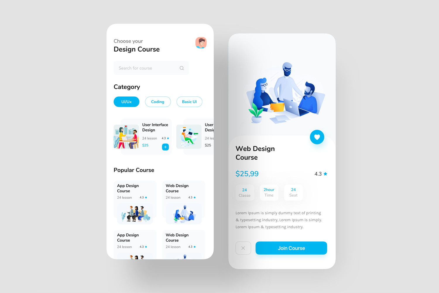 A Best And Free UI Templates Build With Flutter