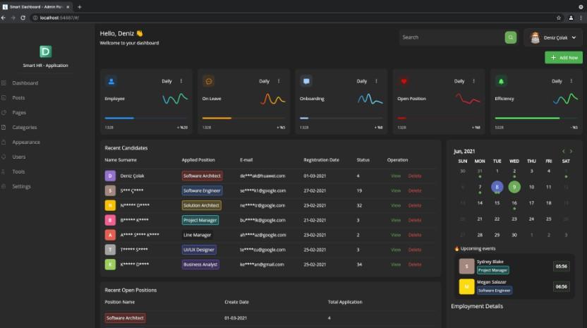 Flutter Web Smart Admin & Panel Dashboard with flutter UI kit