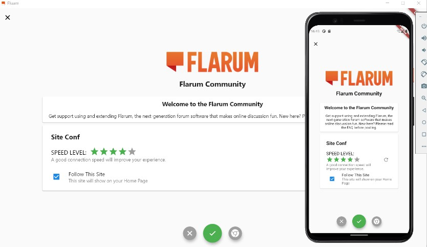 A flarum application build with flutter