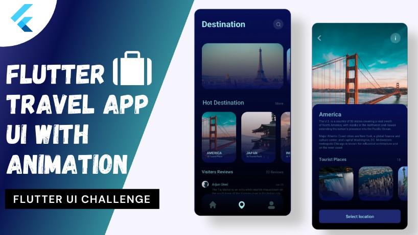 A travel app using flutter