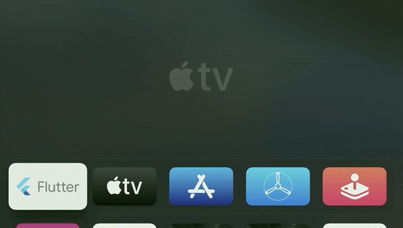 Flutter demo application for Apple TV (tvos) using custom Flutter engine