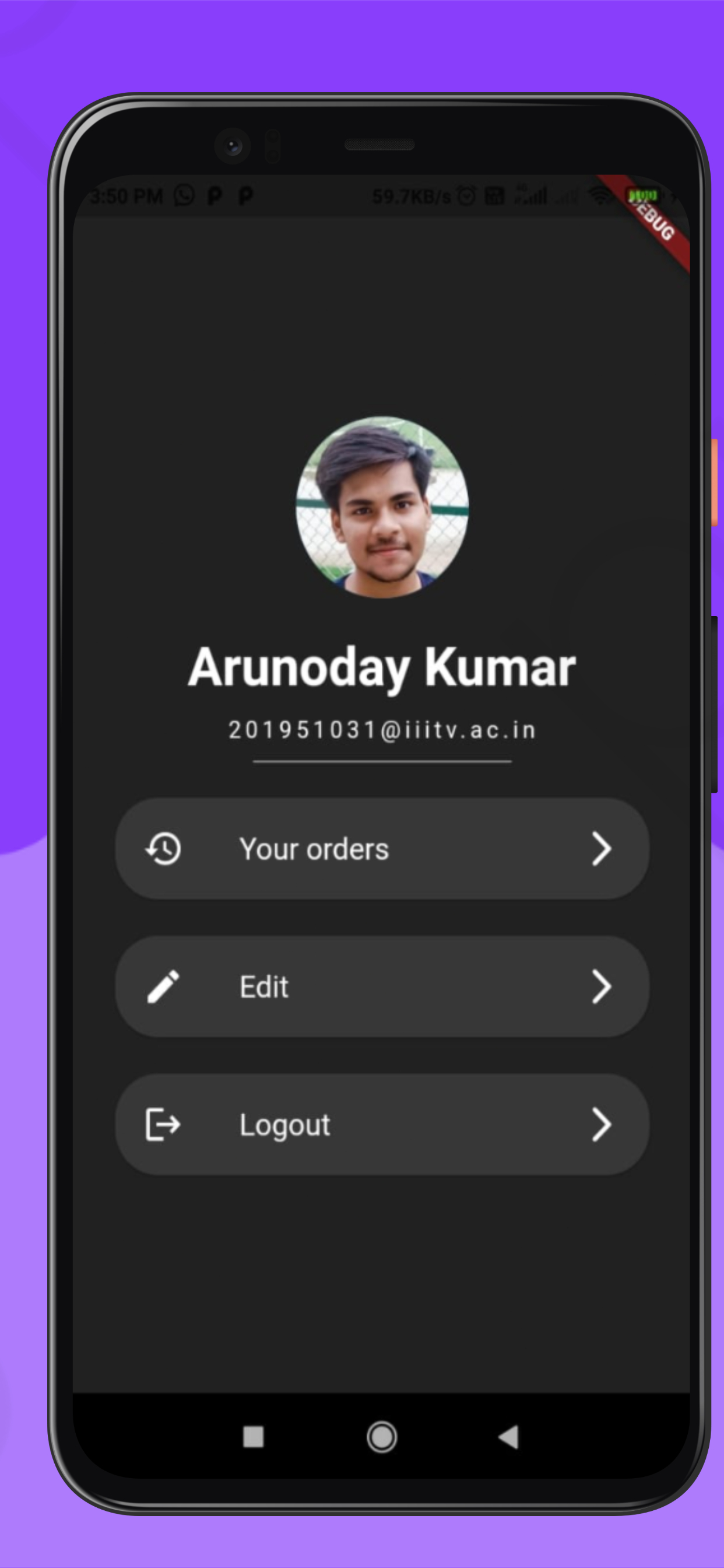 A Food Ordering App made with Flutter, node and using MySQL Database