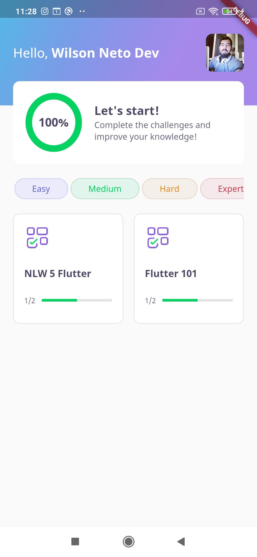 A simple flutter quiz app built in Rocketseat Next Level Week