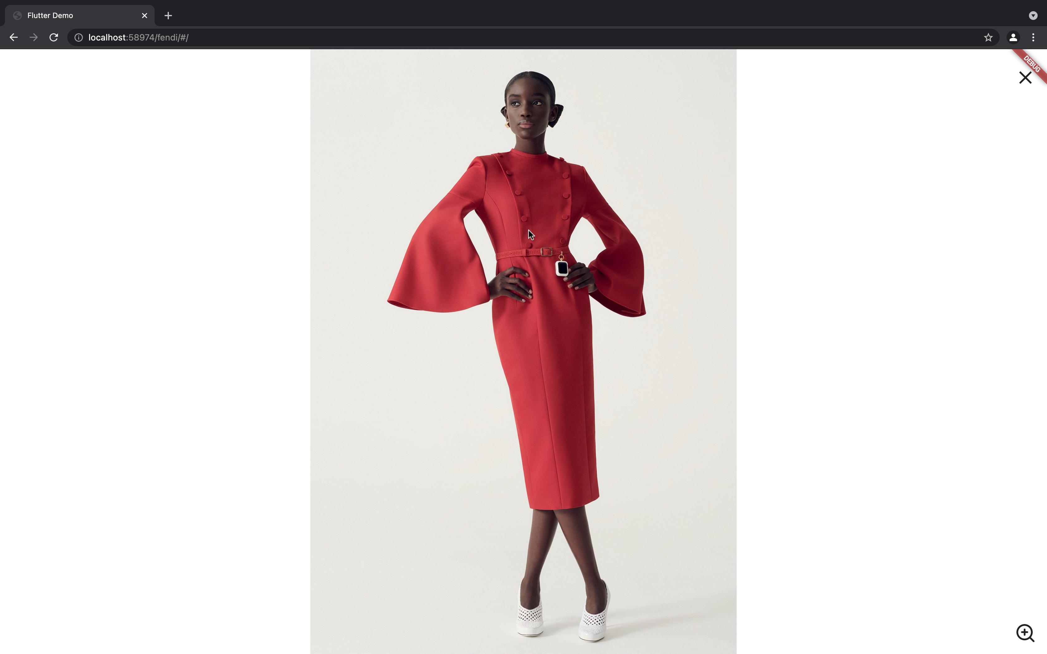 Fendi Women's Lookbook created with Flutter