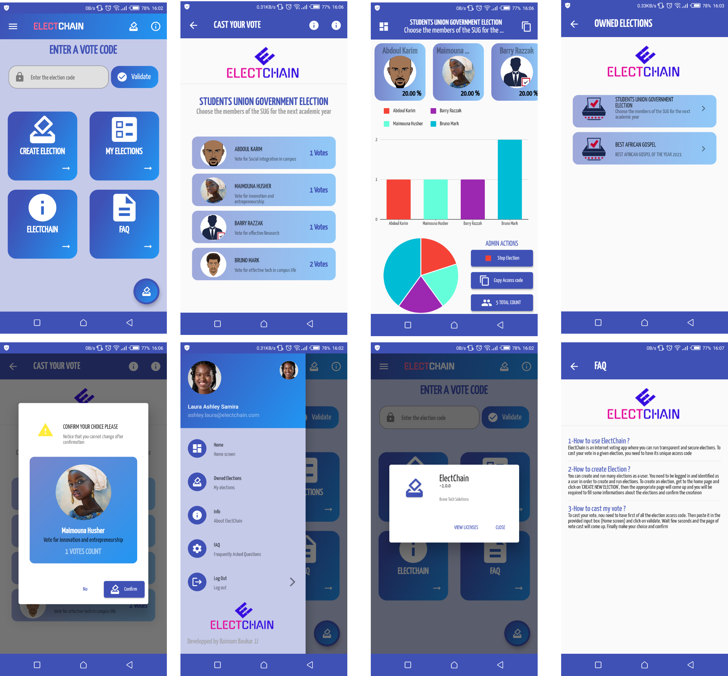A voting system app made with flutter and firebase