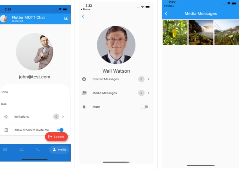 A Chat App Developed Uses Flutter And MQTT Protocol