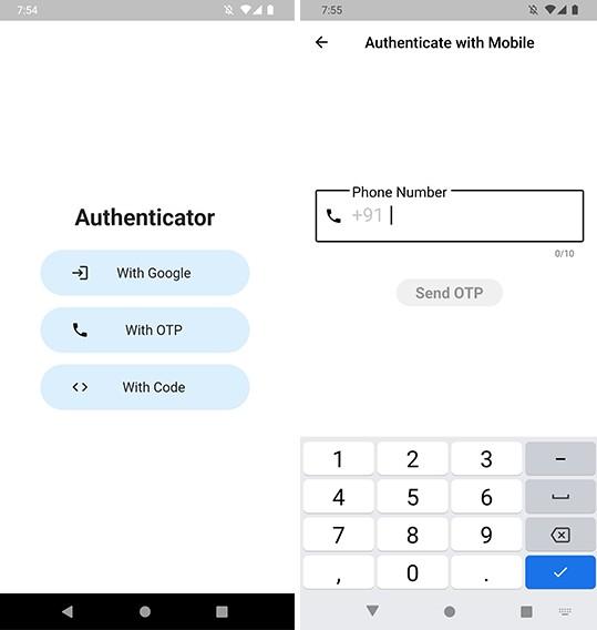 Flutter app for authentication using Text Belt API