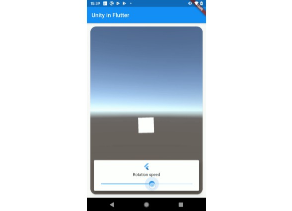 Embeddable unity game engine view for Flutter