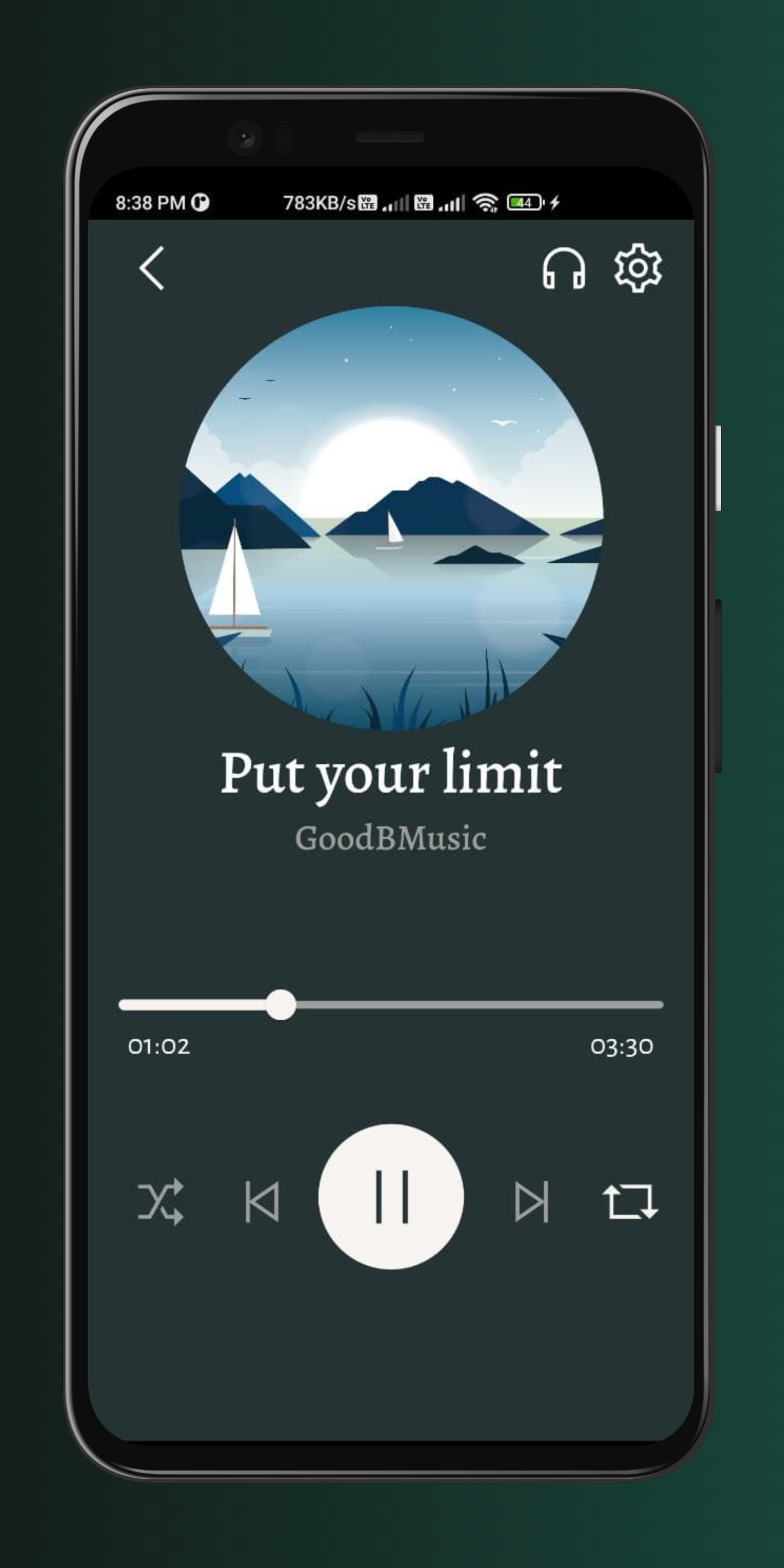 Relaxing Music App bulid using fluter and firebase