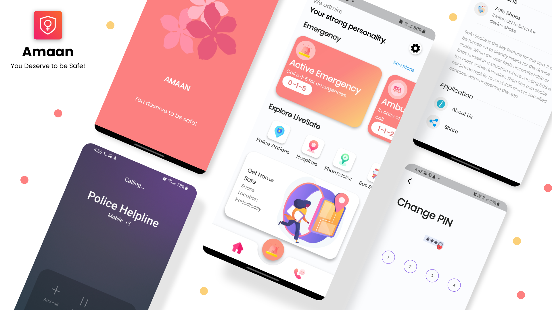 Amaan Women Safety App Built Using Flutter