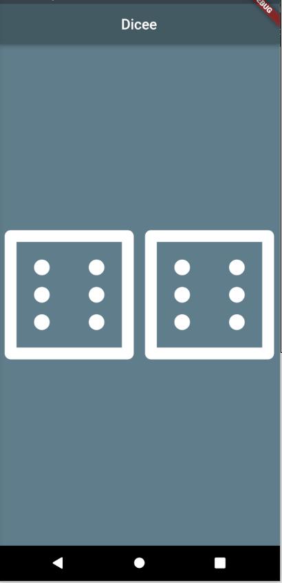 Random number with dice in flutter