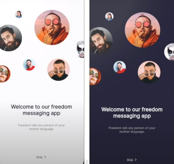A Flutter Messaging App Light and Dark Theme