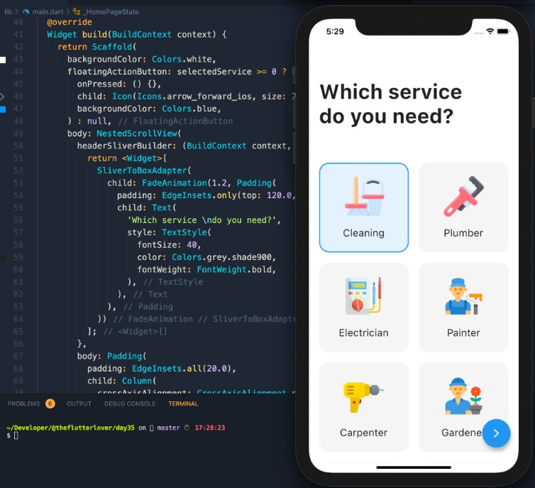 Flutter Home Service Application Example